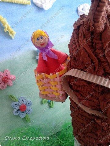 """Добрый день! Моя ученица Юлечка решила поучаствовать в конкурсе со своей любимой сказкой """"Машенька и медведь"""". фото 10"""