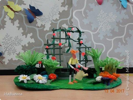 """Здравствуйте! Представляем еще одну нашу работу """"Мой сад"""" придумал и воплотил в жизнь все сам Никита. фото 1"""