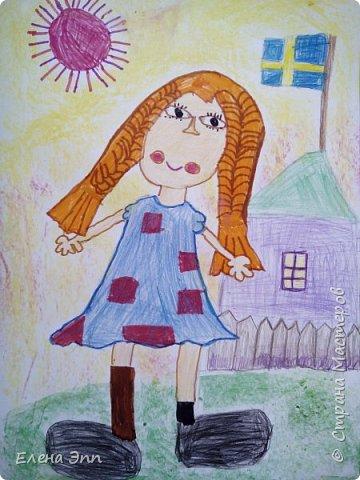 Пеппи -любимая героини Полины. Они даже похожи: весёлые, любят придумывать необычные игры и небылицы, и им никогда не бывает скучно. фото 7