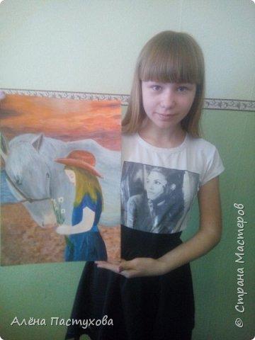 Насте 13 лет, скромная и кропотливая девочка. Выбрала номинацию Животные и дети, так как она ближе всего Насте. Она очень любит животных и хочет показать это в своих работах. фото 9