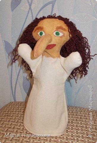 Для конкурса я решила сделать перчаточную куклу Бабки - Ежки. Это очень яркий персонаж, который встречается во многих русских народных сказках. фото 7