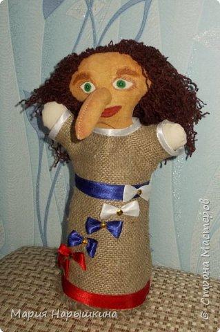 Для конкурса я решила сделать перчаточную куклу Бабки - Ежки. Это очень яркий персонаж, который встречается во многих русских народных сказках. фото 1