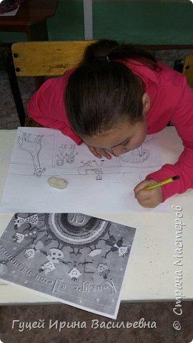 """Здравствуйте Страна мастеров!  Представляю работу своей ученицы Анель """"Мы с мамой в зоопарке"""". Самые незабываемые впечатления произвели на Анель животные, которых она увидела в зоопарке. фото 2"""