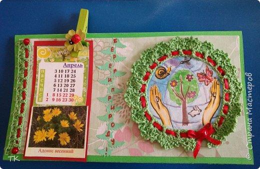 """Даша решила изготовить календарь. На каждый месяц она наклеила виды растений, животных, птиц, рыб из """"Красной книги Нижегородской области"""". фото 1"""