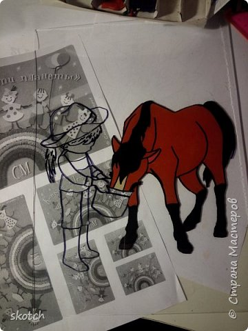 Добрый день! Представляю ещё одну конкурсную работу моей дочки Киры. Пластилинография увлекательный процесс )) Выполнив одну работу в этой технике, ей захотелось сделать ещё одну. Кире очень нравятся лошади. Иногда мы с ней ходим на конюшню, где работает моя знакомая. Кире разрешают покормить и почистить спокойную лошадку. Ну и немного покататься верхом тоже перепадает )) фото 5