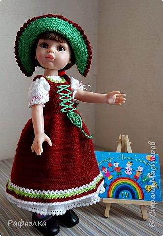 """Добрый день!  Мы представляем вам свою работу - это национальный баварский костюм, точнее наша вариация. Такой костюм мы хотели связать уже очень давно. Но, как обычно - то не хватало времени, то увлекали другие проекты... Но, как говорится, всему своё время... Вот настала очередь и баварского женского национального костюма - Dirndl, что дословно означает """"девичья одежда"""".   фото 9"""