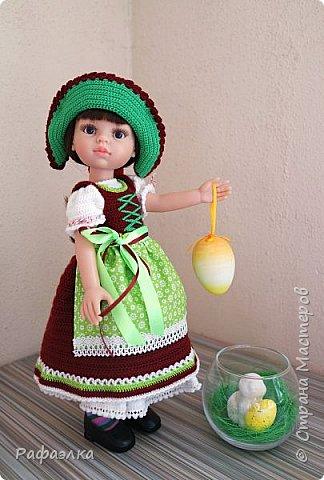 """Добрый день!  Мы представляем вам свою работу - это национальный баварский костюм, точнее наша вариация. Такой костюм мы хотели связать уже очень давно. Но, как обычно - то не хватало времени, то увлекали другие проекты... Но, как говорится, всему своё время... Вот настала очередь и баварского женского национального костюма - Dirndl, что дословно означает """"девичья одежда"""".   фото 1"""
