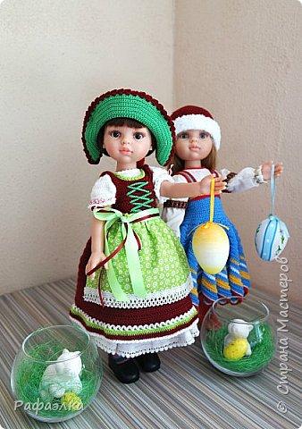 """Добрый день!  Мы представляем вам свою работу - это национальный баварский костюм, точнее наша вариация. Такой костюм мы хотели связать уже очень давно. Но, как обычно - то не хватало времени, то увлекали другие проекты... Но, как говорится, всему своё время... Вот настала очередь и баварского женского национального костюма - Dirndl, что дословно означает """"девичья одежда"""".   фото 11"""