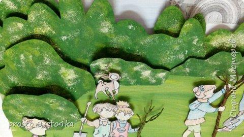 """Здравствуйте, уважаемые жители Страны Мастеров! Представляю Вам работу, выполненную моей ученицей Портяной Галиной. Озвучивая темы конкурса, Галя сразу решила выбрать номинацию """"Зеленая планета"""". Работа выполнена в технике объемной аппликации. фото 7"""