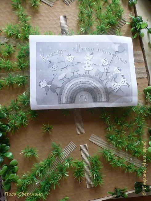 """""""Птичий рай""""- -экологический уголок. В Москве в Ботаническом саду есть японский сад - кусочек Японии-нeбoльшoй yгoлoк типичнoгo для Cтpaны Bocxoдящeгo coлнцa лaндшaфтa. Мы смотрели на цветущую сакуру , ходили по дорожкам, любовались мостиками и  pyчьём c кacкaдoм вoдoпaдoв....Захотелось сделать свой уголок...весенний, птичий...  фото 12"""