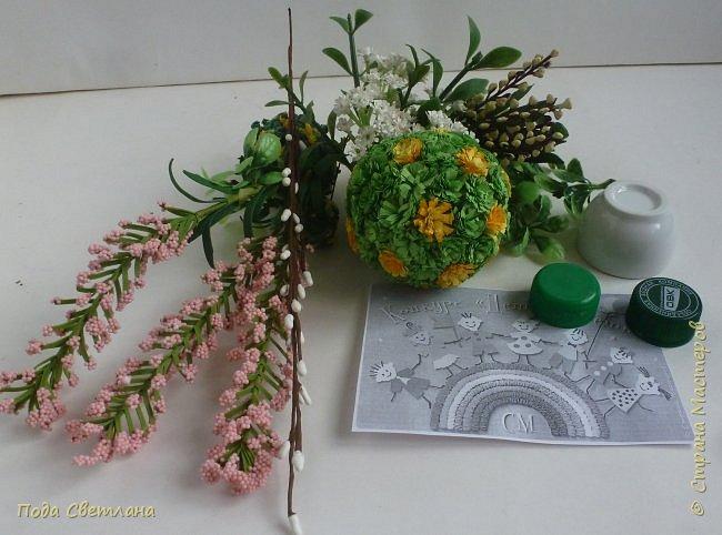 """""""Птичий рай""""- -экологический уголок. В Москве в Ботаническом саду есть японский сад - кусочек Японии-нeбoльшoй yгoлoк типичнoгo для Cтpaны Bocxoдящeгo coлнцa лaндшaфтa. Мы смотрели на цветущую сакуру , ходили по дорожкам, любовались мостиками и  pyчьём c кacкaдoм вoдoпaдoв....Захотелось сделать свой уголок...весенний, птичий...  фото 4"""