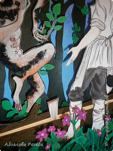 """Добрый вечер, жители Страны Мастеров! Представляю вашему вниманию мою конкурсную работу """"Шурале"""". Посвящаю ее 131-летию известного татарского поэта и публициста Габдулла Тукая. Тукай для татарского народа как Пушкин для русских. Его произведения мы заучивали с самого раннего возраста. Я отчетливо помню, как была напугана описанием Шурале, ясно представляла темный лес с его обитателями, как была восхищена красотой деревни Кырлай.  фото 18"""