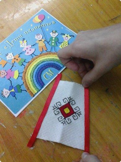 Сестренка и братишка - чувашские ребятишки! На создание таких текстильных куколок вдохновляет наша Чувашская Республика и её яркая национальная чувашская вышивка! фото 14