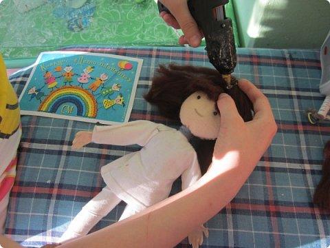 """Каркасная кукла """"Садовник"""" в смешанной технике и композиция """"Во саду ли в огороде"""", посвященная теме экологии. фото 10"""
