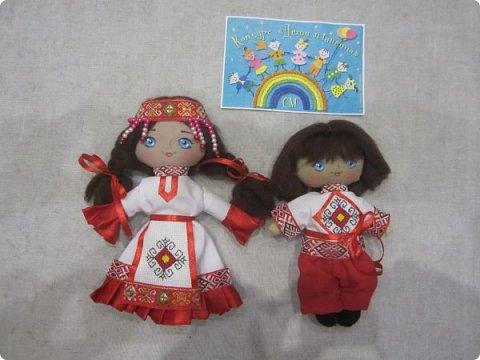 Сестренка и братишка - чувашские ребятишки! На создание таких текстильных куколок вдохновляет наша Чувашская Республика и её яркая национальная чувашская вышивка! фото 18