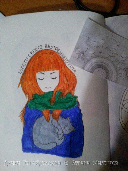 Вот такой рисунок я решила нарисовать.Надеюсь кто-нибудь поймет мою задумку)) фото 3