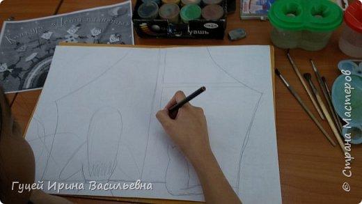 """Представляю еще одну творческую девочку Абай Меруе с рисунком """"Мир за окном"""". Какой интересный вечер и как сосредоточенно и увлеченно смотрят в окно две подружки. фото 2"""