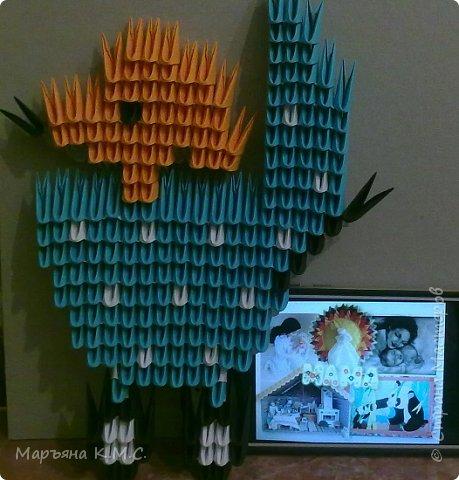Без модульного оригами никуда. Как только увидела в инете симпатичную картинку - пройти мимо уже не смогла. Сразу села творить) фото 4