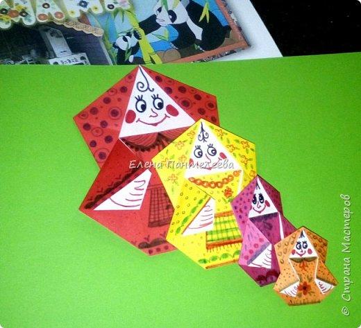 """В честь праздника """"День матери"""" предлагаю свою авторскую разработку по оригами """"Матрёшка с ручками"""". фото 17"""