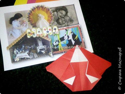 """В честь праздника """"День матери"""" предлагаю свою авторскую разработку по оригами """"Матрёшка с ручками"""". фото 13"""