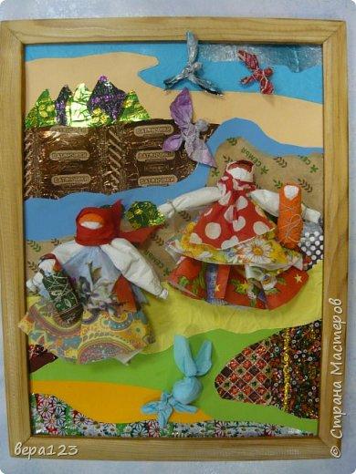 Кукла-оберег  испокон веков считается , нянечкой для новорожденных. Символ любви матери-прародительницы Рода к последующим поколениям. Моя мама родилась в 1925 году в Кировской области. где широко распространено изготовление народной игрушки и поэтому я всегда имела большое количество кукол и люблю их делать сама с теми детьми , которые приходят ко мне на занятия. фото 1