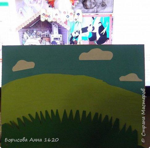 Как-то летом на солнечной полянка мама Овечка гуляла с Ягненком и рассказывала ему сказки... Здравствуйте, представляю работу моей дочки Катюши. Любим мы с ней мастерить что-нибудь этакое...  фото 9