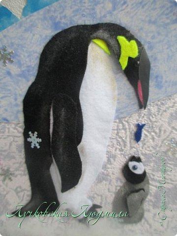 """Спасибо за конкурс и возможность себя проявить. Представляю свою картину """"Пингвины на севере"""". уж очень они мне нравятся, а тут такая возможность! Когда фотографировала готовую работу подумала, что ее можно будет отнести в сад....к Новому году, обязательно загадают сделать поделку. В процессе выкладывания фотографий решила сделать маленький МК. может кому пригодится. фото 10"""