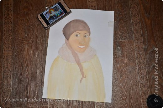 """Для участия в конкурсе решила выбрать номинацию """"Язык изобразительного искусства"""" и нарисовать себя и свою маму фото 3"""