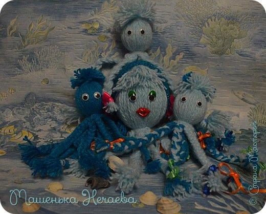 Всем доброго вечера! Помните стишок Эдуарда Успенского: Жил осьминог Со своей осьминожкой, И было у них Осьминожков немножко. Правда замечательный стишок!!?? Вот мама из этого стишка пошла гулять с тремя осьминожками, а папа с остальными дома остался.  фото 5