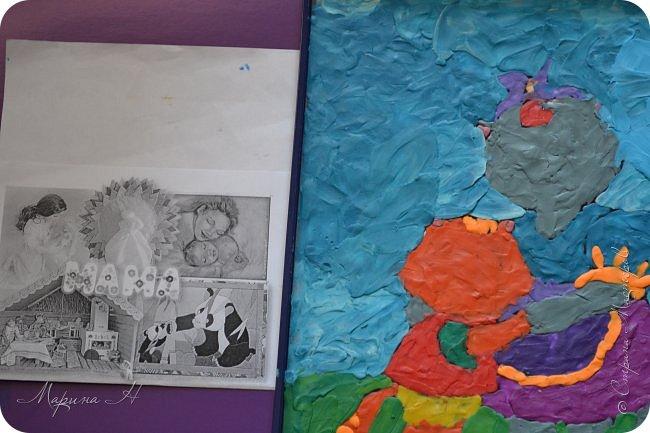 """Здравствуйте, дорогие жители Страны Мастеров! Представляю Вашему вниманию серию работ """"Мамочки с детёнышами"""". Мы долго думали, каким образом представить свои работы на конкурс, но сошлись единогласно на том, что будем делать серию работ в технике рисования пластилином.  фото 4"""