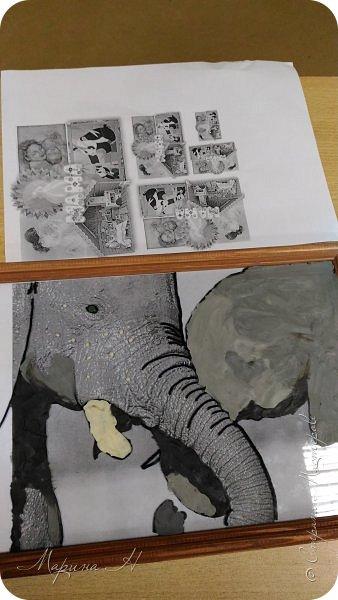 """Здравствуйте, дорогие жители Страны Мастеров! Представляю Вашему вниманию серию работ """"Мамочки с детёнышами"""". Мы долго думали, каким образом представить свои работы на конкурс, но сошлись единогласно на том, что будем делать серию работ в технике рисования пластилином.  фото 6"""