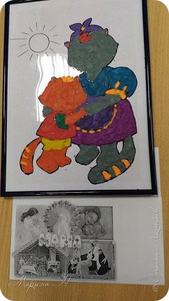 """Здравствуйте, дорогие жители Страны Мастеров! Представляю Вашему вниманию серию работ """"Мамочки с детёнышами"""". Мы долго думали, каким образом представить свои работы на конкурс, но сошлись единогласно на том, что будем делать серию работ в технике рисования пластилином.  фото 3"""