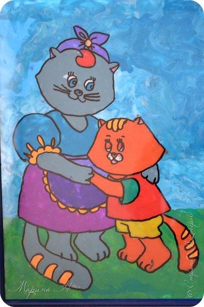 """Здравствуйте, дорогие жители Страны Мастеров! Представляю Вашему вниманию серию работ """"Мамочки с детёнышами"""". Мы долго думали, каким образом представить свои работы на конкурс, но сошлись единогласно на том, что будем делать серию работ в технике рисования пластилином.  фото 20"""