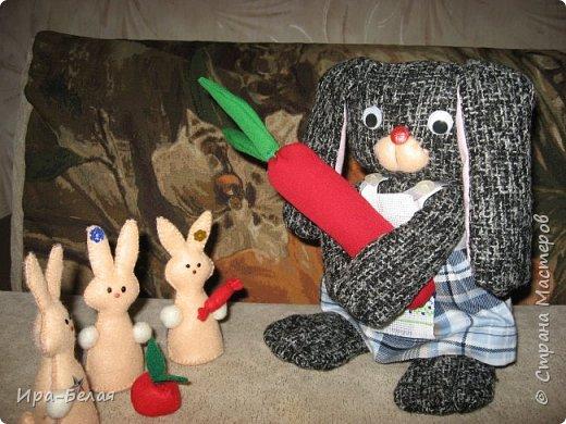 Сегодня я представляю Вам - Дружную семейку. Наблюдая за поведением кроликов, у меня родилась эта задумка.... фото 15