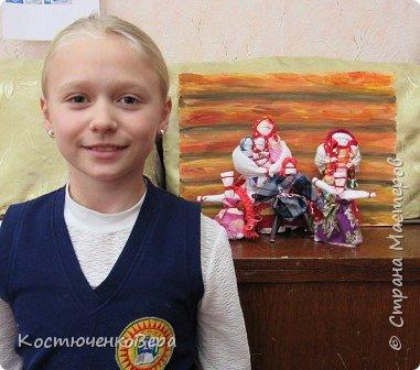 Представляю вашему вниманию композицию из тряпичных кукол в народном стиле. Выполнила работу моя ученица Жданова Юля. фото 16