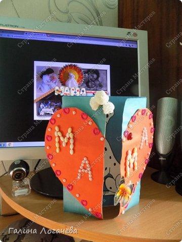 Мой сын любит мастерить разные поделки, особенно открытки. Он с охотой взялся за эту поделку. фото 11