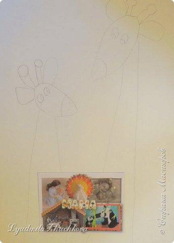 Аня очень любит животных, читает про их жизнь книги и много рисует. Аня изобразила маму- жирафа и жирафёнка-дочку. фото 2
