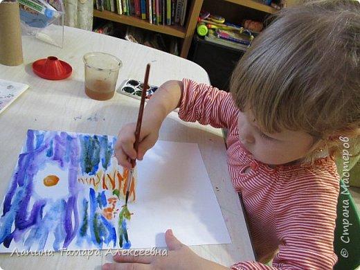 Представляю работу Дарины в акварели. Рисунок задумывался не доя конкурса, т.к. участвовать в конкурсе юный художник не хотел. Расставаться с рисунками девочка не хочет, а многие конкурсы рисунки не возвращают. Уговоры заняли некоторое время.  фото 2