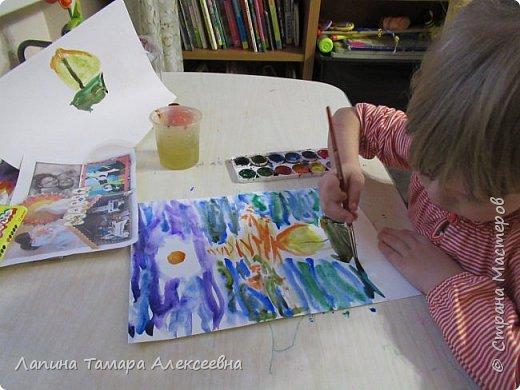Представляю работу Дарины в акварели. Рисунок задумывался не доя конкурса, т.к. участвовать в конкурсе юный художник не хотел. Расставаться с рисунками девочка не хочет, а многие конкурсы рисунки не возвращают. Уговоры заняли некоторое время.  фото 5