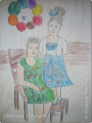 Мама и дочка – они так похожи! Мама и дочка – две капельки солнца. (Елена Плотникова) фото 1