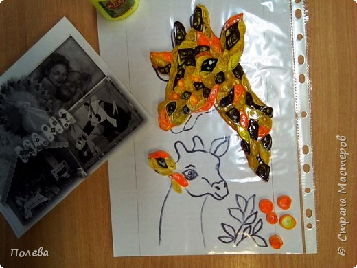 Свою работу Ангелина выполнила в технике квиллинг. фото 4
