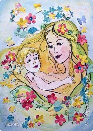 Тема материнства мне очень близка. Я - мама, бабушка.Трое внуков - это здорово! Мои дочери тоже мамы. Меня всегда привлекала тема материнской нежности. И сейчас меня вдохновили фотографии моих дочерей. Может здесь они выглядят усталыми, но я думаю вместе с заботами они испытывают  чувства любви и нежности к своим детям. Это незабываемые первые годы жизни, когда они были маленькие, милые, беззащитные... Мамы любят своих деток, заботятся о них. И пусть так будет всегда! Мамы милые, нежные, любящие! фото 12
