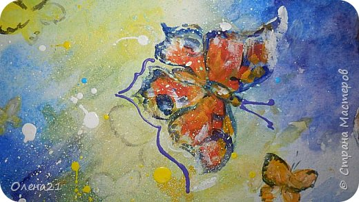 Материнские руки - воплощение нежности (Виктор Гюго).    Нежность - это желание обнять,. Объятия - способ выразить свою любовь, готовность защитить.   Неожиданно для  меня самой получилась работа в виде триптиха, выполненная акварелью и  акрилом на листах формата А3 в технике интуитивного рисования. фото 8