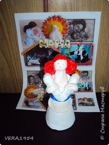 Добрый день, друзья!         Хочу познакомить вас с воронежской игрушкой. Воронежская игрушка менее известна, чем другие игрушки народных промыслов России. Меня очень заинтересовал образ мамы воронежской игрушки, и я решил слепить такую.  фото 6
