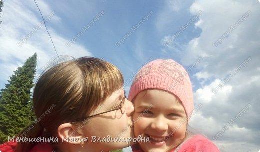 """Надя очень любит """"фотопаратить"""". Фотографирует все что можно, и сама любит позировать. Фотографироваться с мамой - одно из любимых занятий. У нас много фотографий мамы с дочкой. Вот одно из таких фото мы решили перевоплотить в конкурсную работу.  фото 6"""