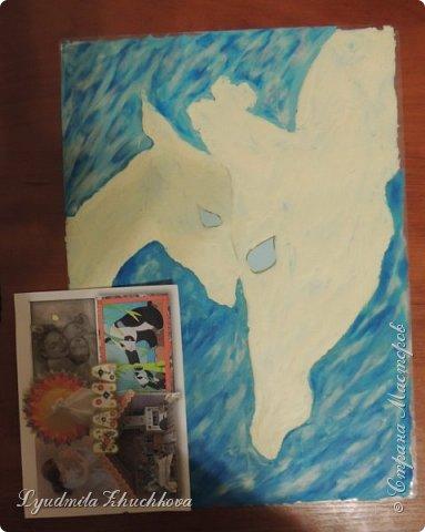 Когда на занятиях я рассказала о новом конкурсе и его номинациях, Маша сразу решила изобразить жирафа с малышом. Маша прекрасно рисует, успевает заниматься в двух изостудиях, мама поддерживает дочь в её творческих порывах и работу они делали вместе. фото 4