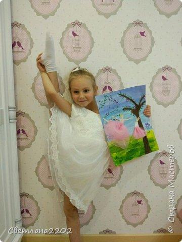 Хочу поделиться с Вами работой Эвелины.Она давно занимается гимнастикой, рисованием, вокалом! Но так же Эваочень хочет стать балериной итанцевать вместе со своей мамой!  Чтоб мама стала для неё наставником и учителем! Ведь она так сильно её любит! фото 12