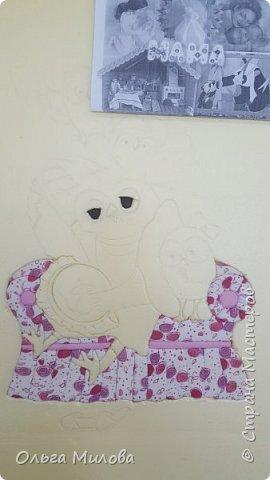 """Здравствуйте, уважаемые жители Страны Мастеров! Принимайте конкурсную работу Матвея и Ильи. """"Творческая мама"""" в образе мудрой совы. А рядышком ее детки) Работа сделана по мотиву иллюстрации Инги Измайловой.  фото 3"""