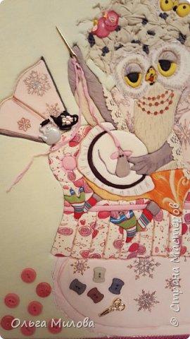 """Здравствуйте, уважаемые жители Страны Мастеров! Принимайте конкурсную работу Матвея и Ильи. """"Творческая мама"""" в образе мудрой совы. А рядышком ее детки) Работа сделана по мотиву иллюстрации Инги Измайловой.  фото 8"""