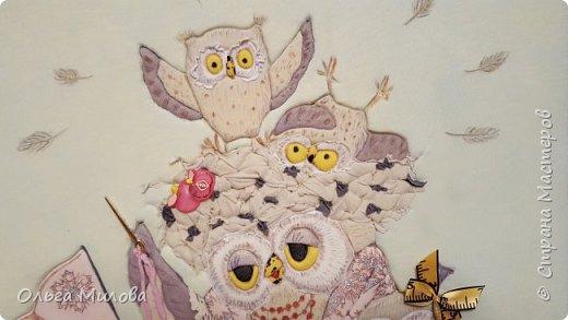 """Здравствуйте, уважаемые жители Страны Мастеров! Принимайте конкурсную работу Матвея и Ильи. """"Творческая мама"""" в образе мудрой совы. А рядышком ее детки) Работа сделана по мотиву иллюстрации Инги Измайловой.  фото 9"""